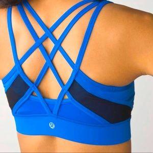 Lululemon Strap it Like its Hot Sports Bra Blue